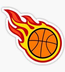 Basketball On Fire Sticker