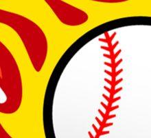 Baseball On Fire Sticker
