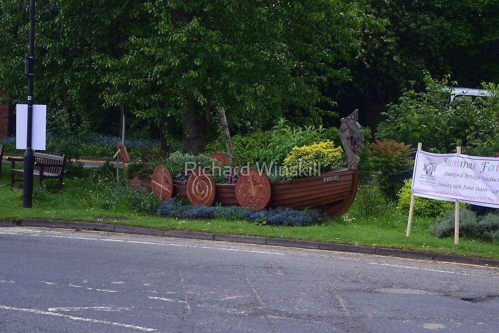 "Stamford Bridge - Viking Longboat Planter ""Ormen"" by Richard Winskill"