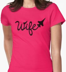 F-16 Wife Women's Fitted T-Shirt