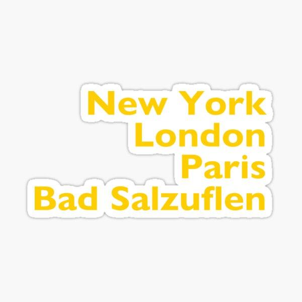 New York London Paris Bad Salzuflen Sticker