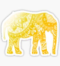 Yellow Elephant  Sticker