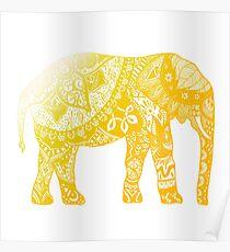 Yellow Elephant  Poster
