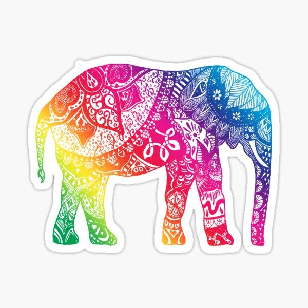 Rainbow Elephant Sticker