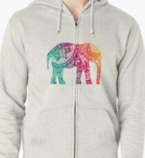 Warm Elephant Zipped Hoodie