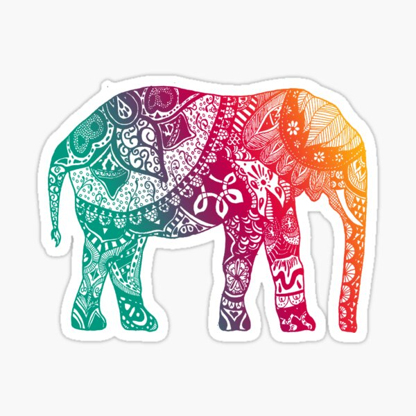 Warm Elephant Sticker