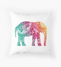 Warm Elephant Throw Pillow
