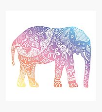 Pastel Elephant Photographic Print