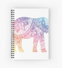 Pastel Elephant Spiral Notebook