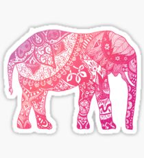 Light Pink Elephant Sticker