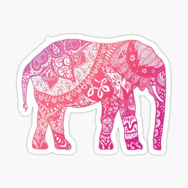 Light Pink Elephant Sticker