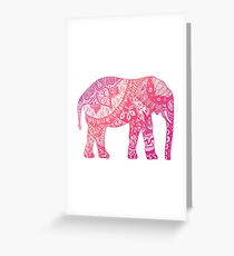 Light Pink Elephant Greeting Card