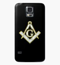 Funda/vinilo para Samsung Galaxy Freemason Gold Bling Logo Square Compass