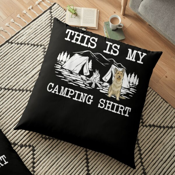 Campfire Berger Picard Dog This Is My Camping  Floor Pillow