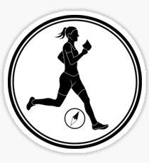 Womens Orienteering Sticker