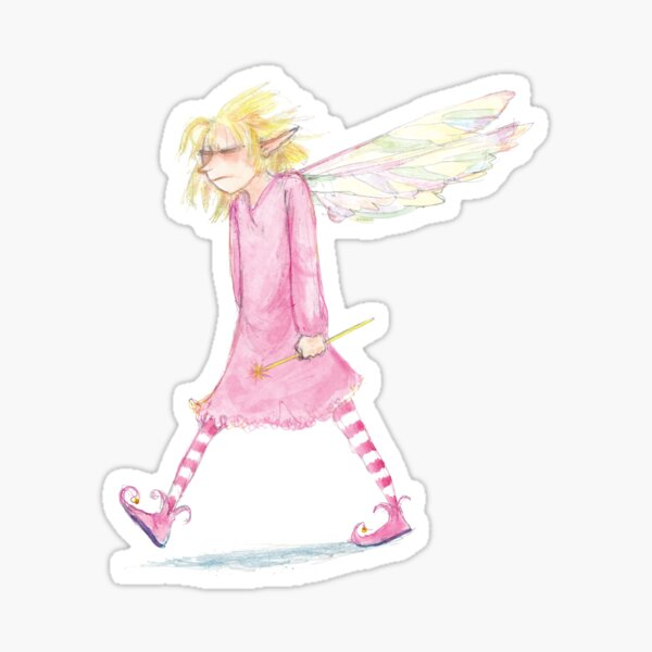 Grumpy Fairy is at the End of Her Wand Sticker