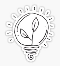 Plant Lightbulb Sticker