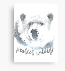 Protect Wildlife-Polar Bears Canvas Print
