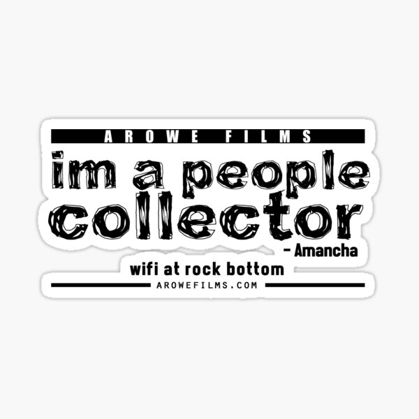 People Collector - Black (WFARB) Sticker