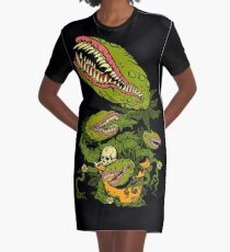 Venus Fly Trap Graphic T-Shirt Dress