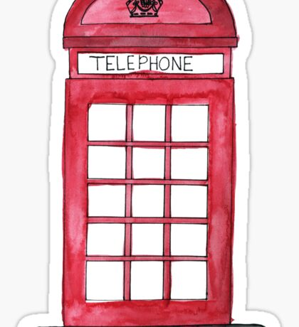 Telephone Booth Sticker
