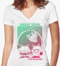 Nikochan Women's Fitted V-Neck T-Shirt
