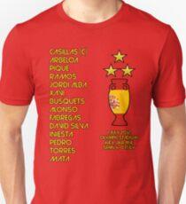 Spain 2012 Euro Winners Unisex T-Shirt
