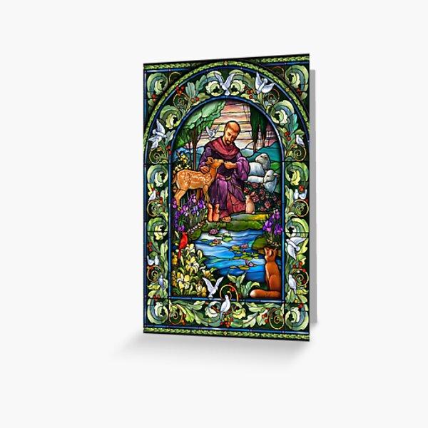 St. Francis Glasmalerei Grußkarte