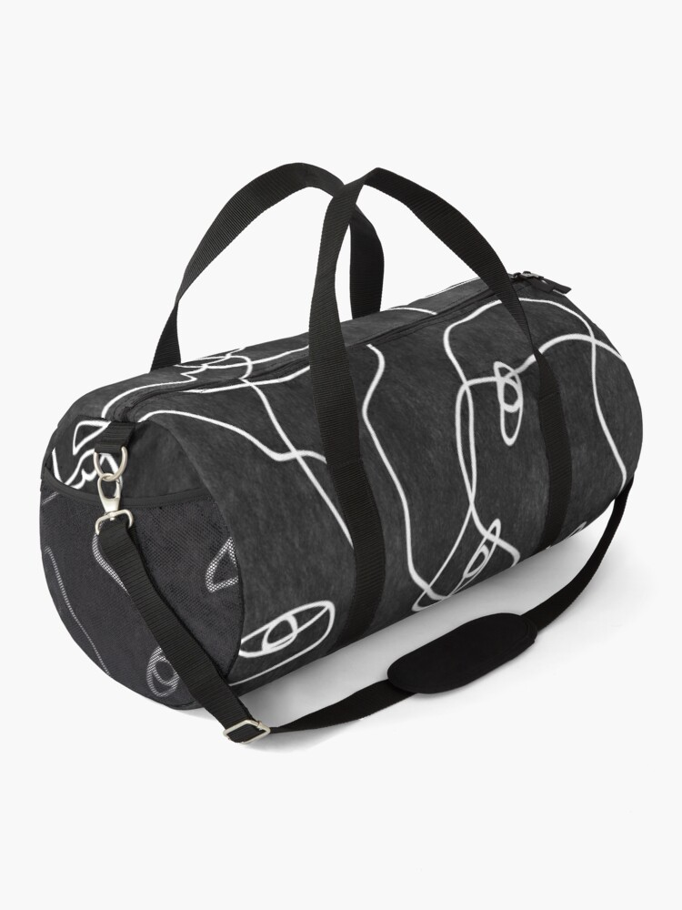 Alternate view of Faces All Over Black And White Duffle Bag