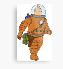 Belgium in Space  Metal Print