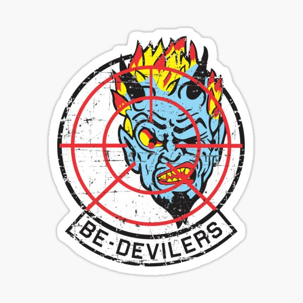 VF-74  Fighter Squadron Be-Devilers - Grunge Style Sticker