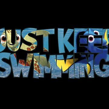 Just Keep Swimming by girldani