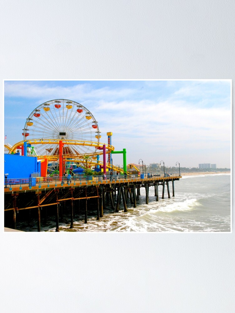 Alternate view of Santa Monica pier Poster