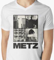 Metz T-Shirt mit V-Ausschnitt