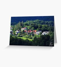 Ruhe in den Hügeln - Bled, Slowenien Grußkarte