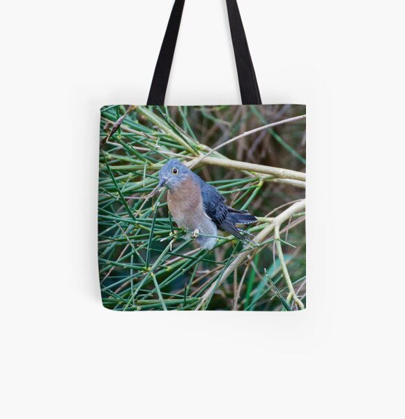 CUCKOO ~ Fan-tailed Cuckoo QJLZSHYQ by David Irwin All Over Print Tote Bag