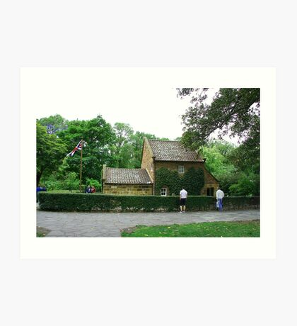 Captain Cook's cottage, Melbourne Art Print