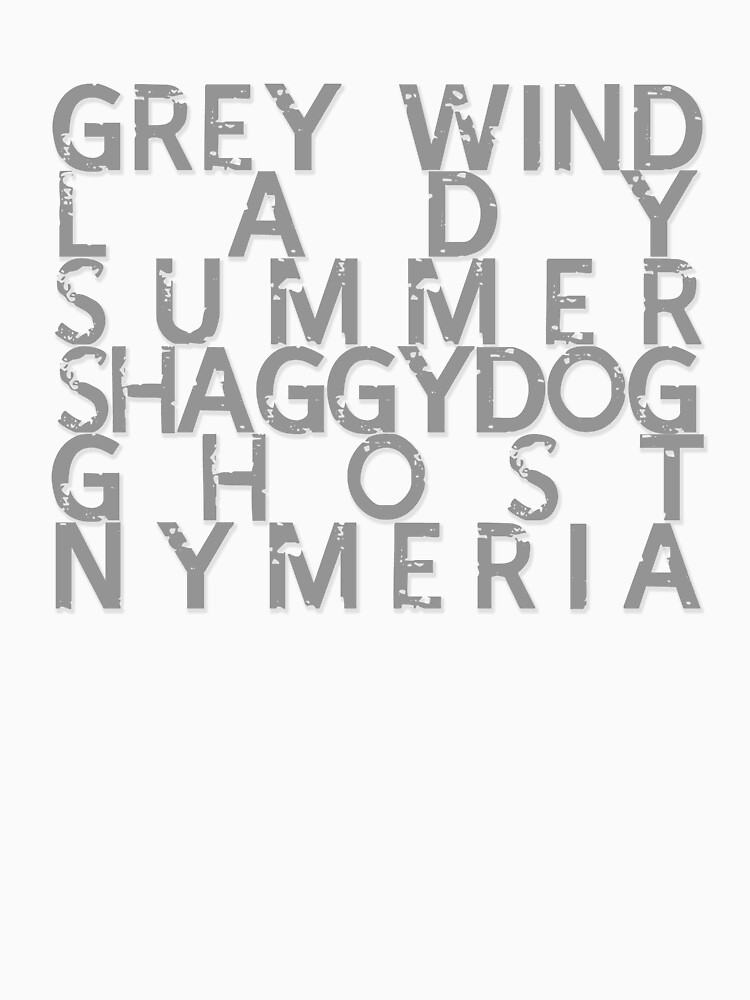 GoT Direwolf Typography (transparent) by RainIapetus