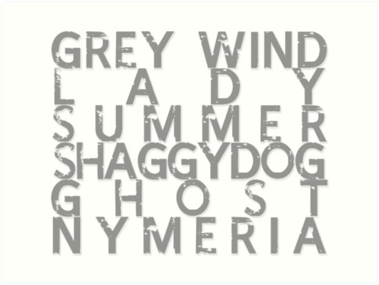 GoT Direwolf Typography (transparent) by RainIapetus