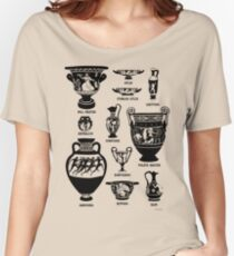 Ancient Greek Pottery Silhouette Women's Relaxed Fit T-Shirt