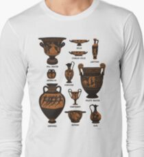 Ancient Greek Pottery Long Sleeve T-Shirt