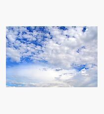 Blue sky with fluffy clouds. Photographic Print