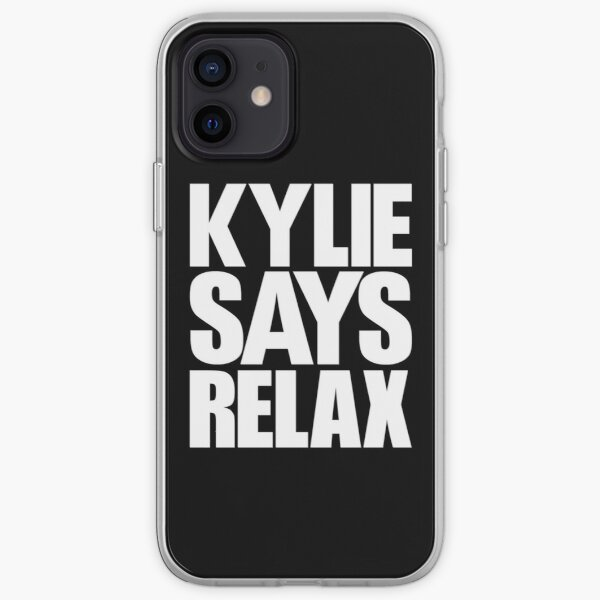 Kylie Minogue - Kylie Says Relax (white text) iPhone Soft Case