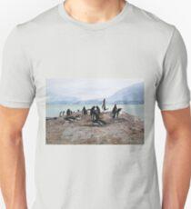 Gentoo Penguin Rookery on Trinity Island, Antarctica T-Shirt