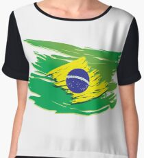 Brazil flag stylized Chiffon Top