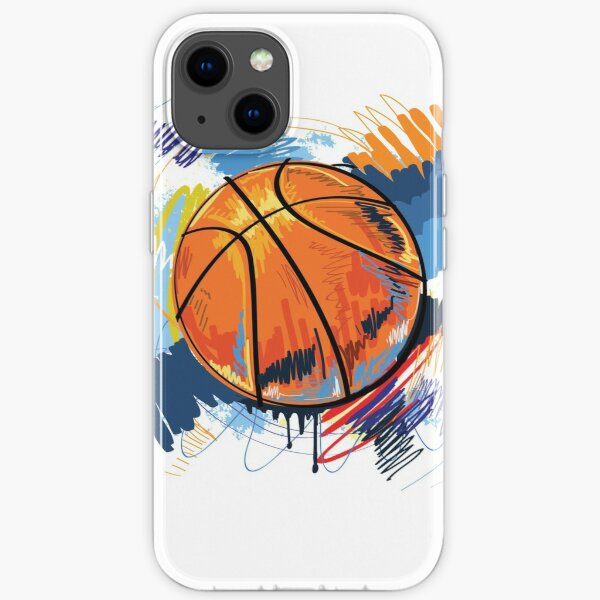 Basketball graffiti art iPhone Soft Case