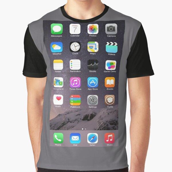 iPhone Homescreen Graphic T-Shirt