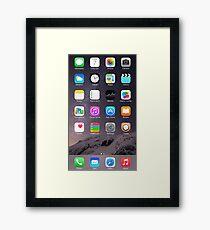 iPhone Homescreen Framed Print