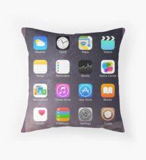 iPhone Homescreen Throw Pillow