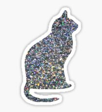 Holo Linear Glitter Cat Sticker